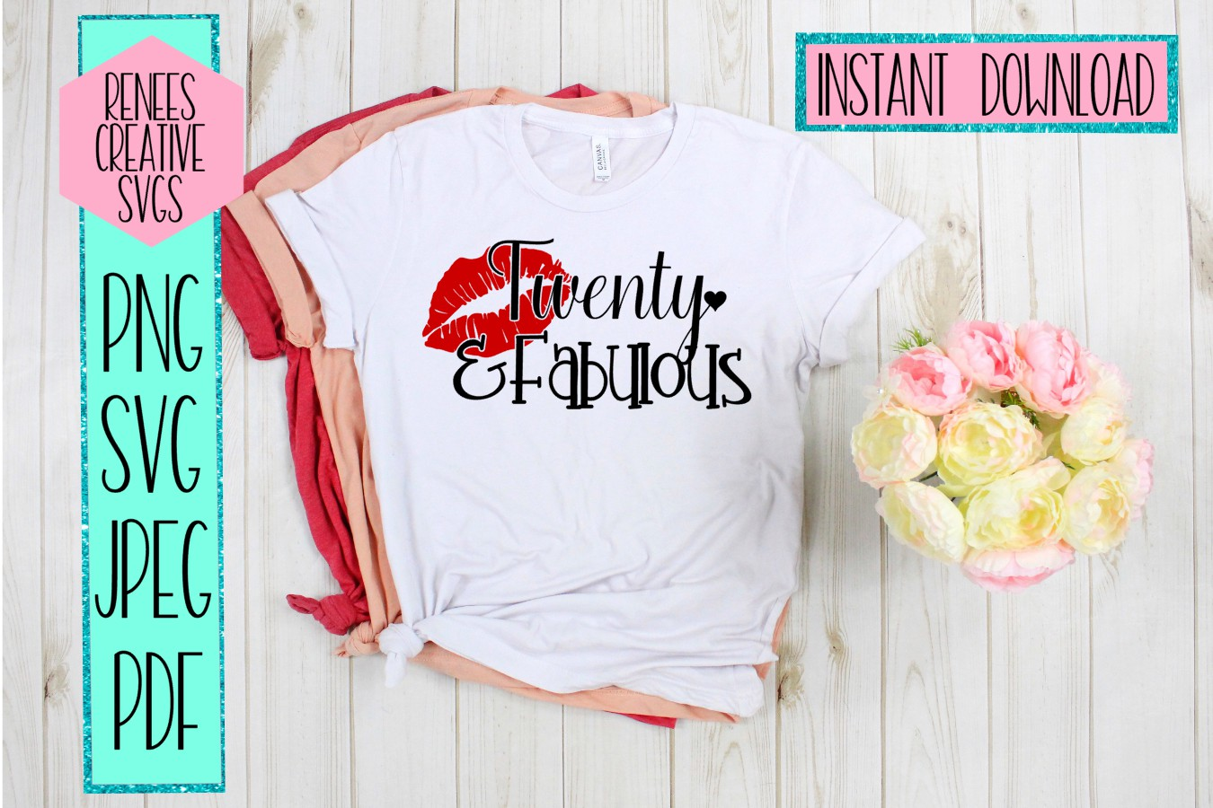 Download Free Twenty Fabulous Graphic By Reneescreativesvgs Creative Fabrica for Cricut Explore, Silhouette and other cutting machines.