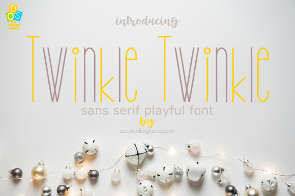 Print on Demand: Twinkle Twinkle Sans Serif Font By Our Design Space