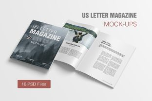 US Letter Magazine Mockups Graphic By graphiccrew