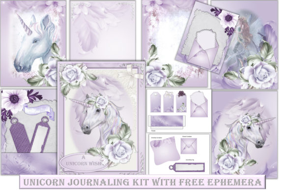 Unicorn Backgrounds With Clipart Graphic By The Paper Princess