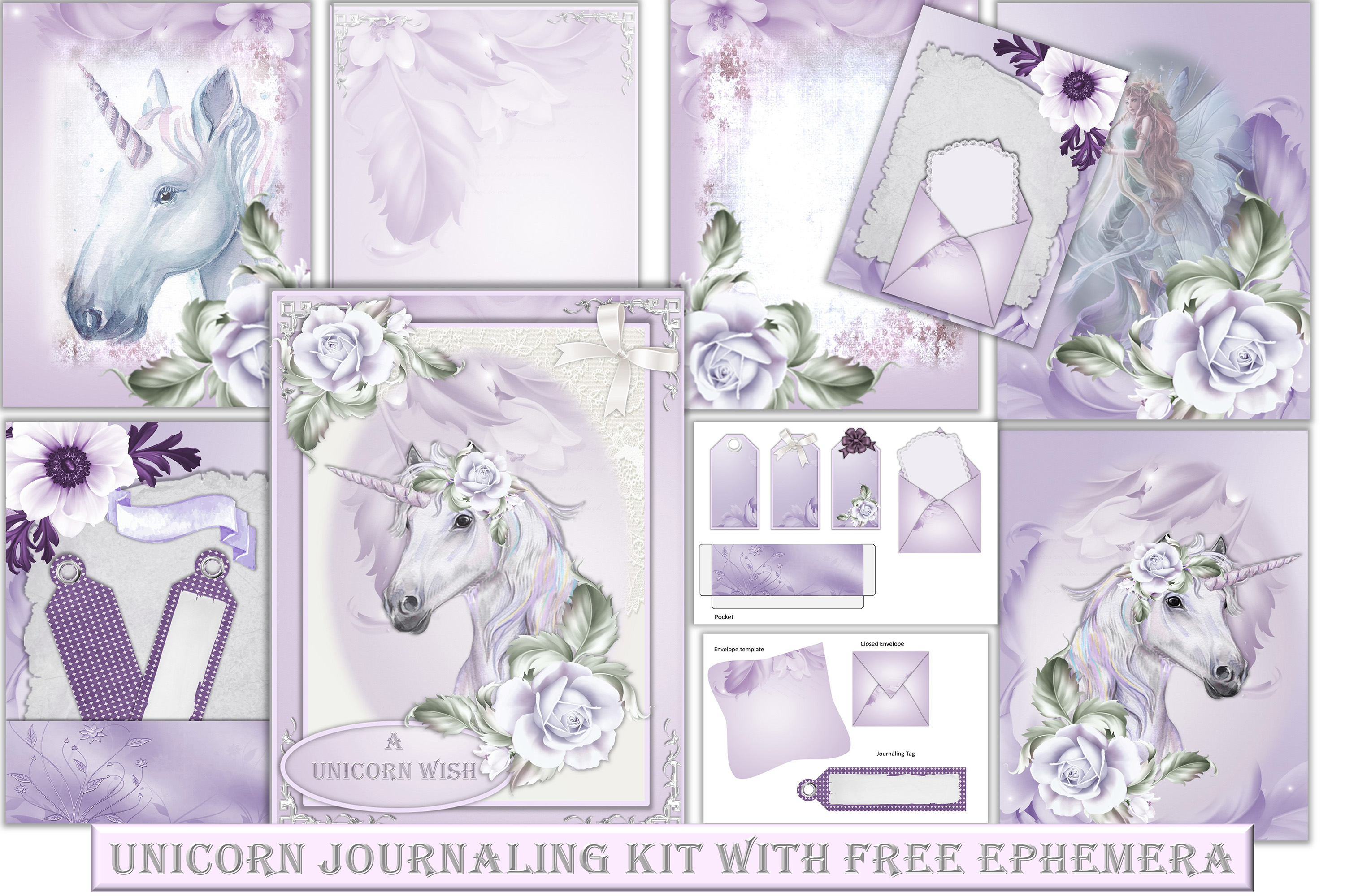 Download Free Unicorn Backgrounds With Clipart Graphic By The Paper Princess for Cricut Explore, Silhouette and other cutting machines.
