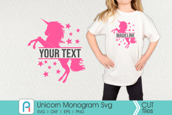Unicorn Monogram Graphic Crafts By Pinoyartkreatib - Image 1