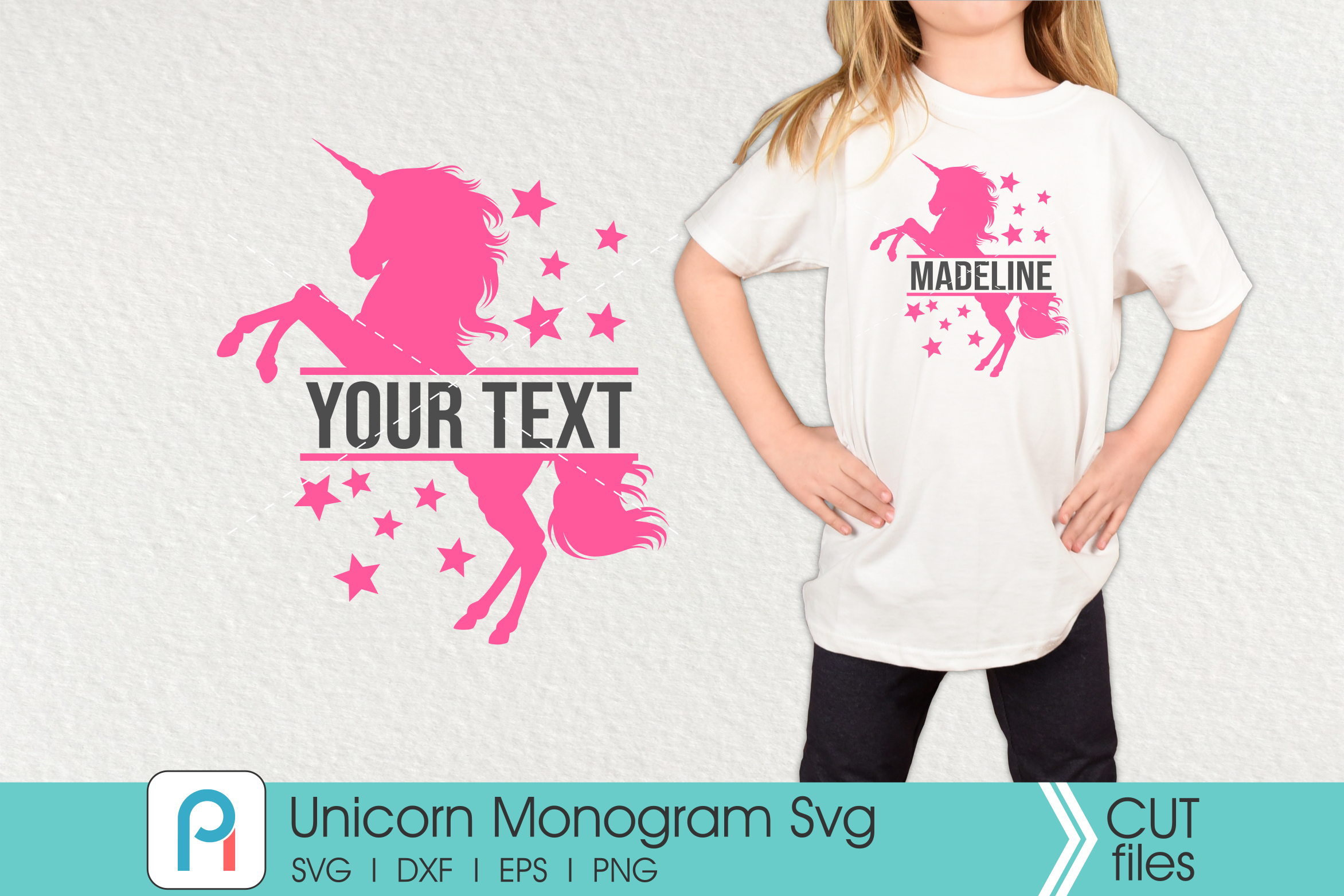 Download Free Unicorn Monogram Graphic By Pinoyartkreatib Creative Fabrica for Cricut Explore, Silhouette and other cutting machines.