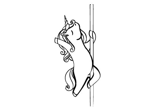 Unicorn Pole Dancing Svg Cut File By Creative Fabrica Crafts
