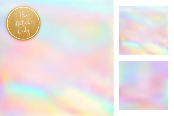 Print on Demand: Unicorn Rainbow Gradient Papers Graphic Backgrounds By daphnepopuliers - Image 4