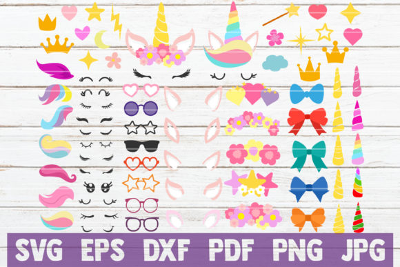 Unicorn SVG Kit | Unicorn Bundle Graphic Graphic Templates By MintyMarshmallows