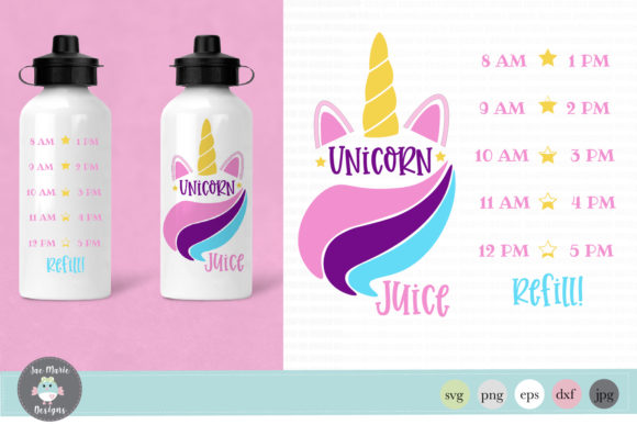 Unicorn Water Bottle Tracker Graphic Crafts By thejaemarie