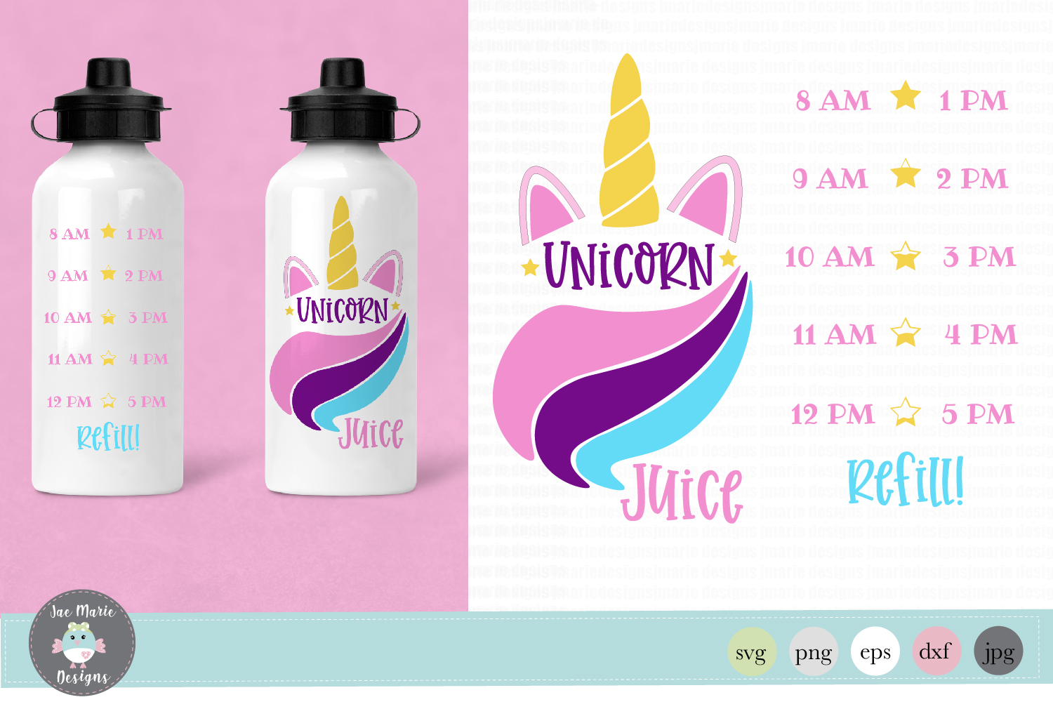 Download Free Unicorn Water Bottle Tracker Graphic By Thejaemarie Creative for Cricut Explore, Silhouette and other cutting machines.