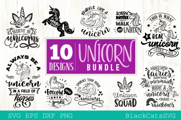 The Unicorn Pack Graphic By sssilent_rage Image 2
