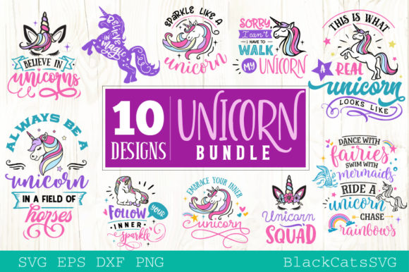The Unicorn Pack Graphic Crafts By BlackCatsMedia