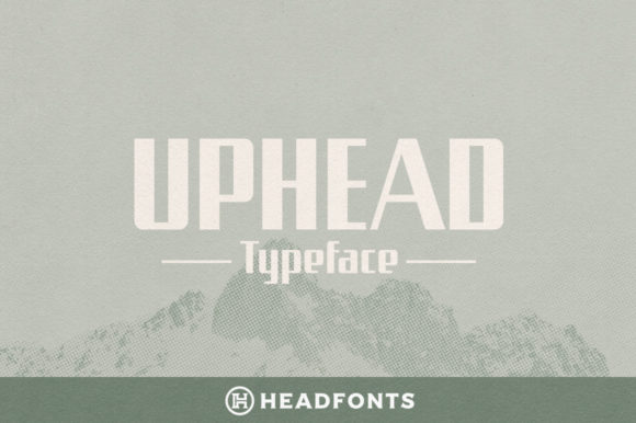 Print on Demand: Uphead Sans Serif Font By Headfonts