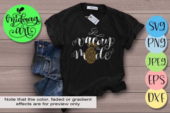 Download Free Vacay Mode Svg Graphic By Midmagart Creative Fabrica for Cricut Explore, Silhouette and other cutting machines.