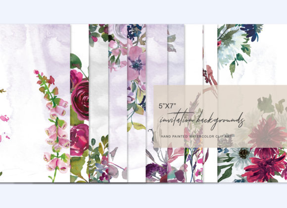 Various Floral Designs Collection Graphic Backgrounds By Patishop Art