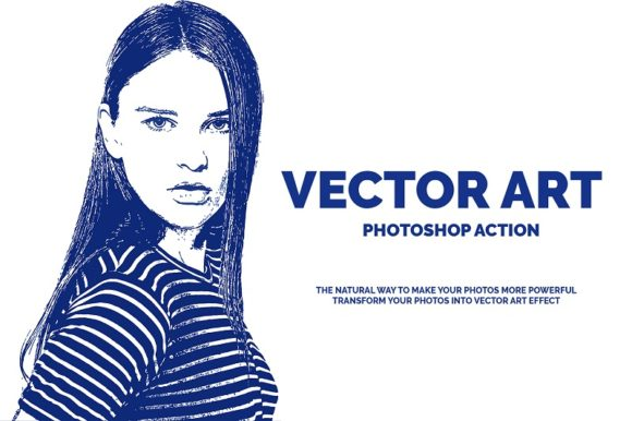 Vector Art Photoshop Action Gráfico Add-ons Por jubair_haider