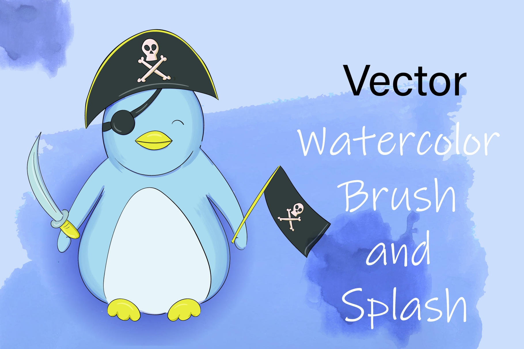 Download Free Vector Watercolor Brush And Splash Graphic By Gennadii Art for Cricut Explore, Silhouette and other cutting machines.