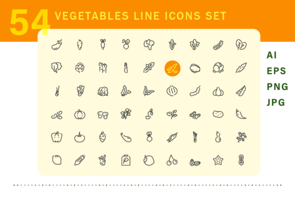 Download Free Vegetable Icons Set Graphic By Limbo Creative Creative Fabrica for Cricut Explore, Silhouette and other cutting machines.