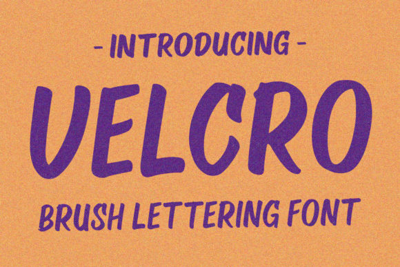 Print on Demand: Velcro Display Font By Viaction Type.Co - Image 2