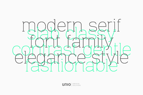 Print on Demand: Venice Family Serif Font By unio.creativesolutions - Image 6
