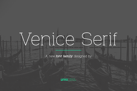 Print on Demand: Venice Family Serif Font By unio.creativesolutions