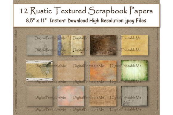 Vintage Digital Paper 8.5 Graphic By DigitalPrintableMe