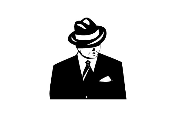 Download Free Vintage Retro Illustration Of 1940 S Gangster Svg Cut File By for Cricut Explore, Silhouette and other cutting machines.