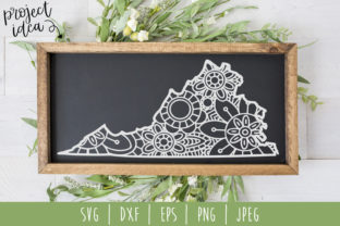 Virginia State Mandala Zentangle Graphic By SavoringSurprises