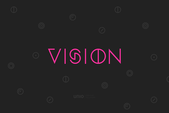 Print on Demand: Vision Family Display Font By unio.creativesolutions