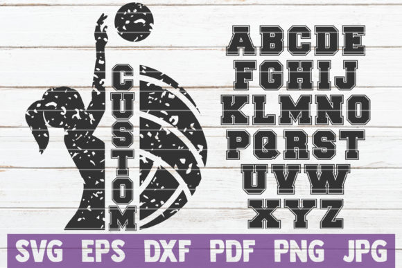 Volleyball Frame SVG Cut File Graphic Graphic Templates By MintyMarshmallows - Image 1