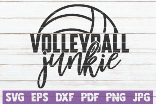 Download Free Volleyball Junkie Cut File Graphic By Mintymarshmallows for Cricut Explore, Silhouette and other cutting machines.