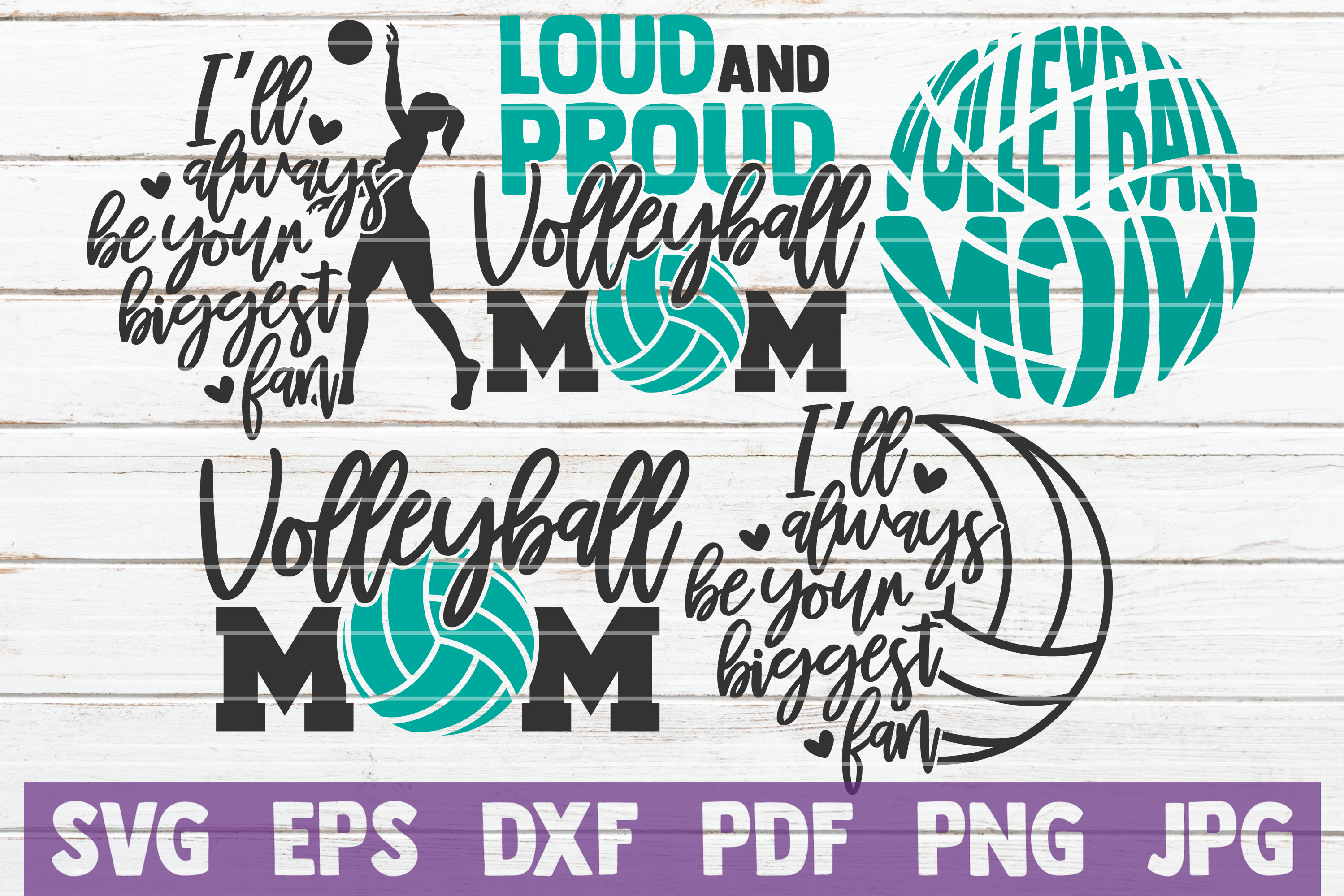Download Free Volleyball Mom Bundle Cut Files Graphic By Mintymarshmallows for Cricut Explore, Silhouette and other cutting machines.
