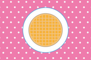Download Free Waffle Vector Graphic By Underscore Creative Fabrica for Cricut Explore, Silhouette and other cutting machines.