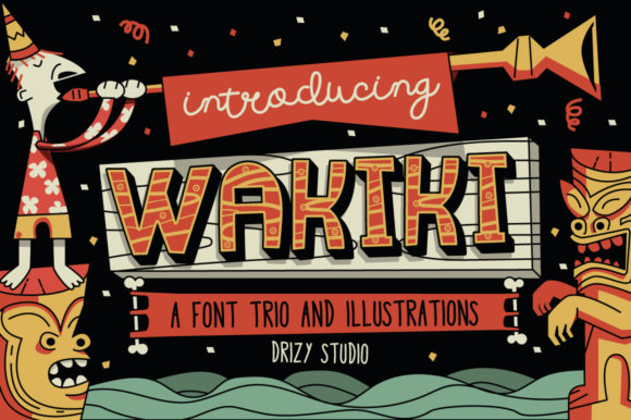 Print on Demand: Wakiki Display Font By sandrifaqih