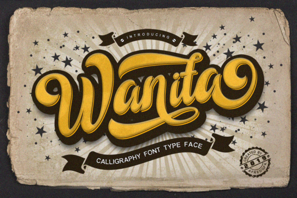 Print on Demand: Wanita Script & Handwritten Font By afredo.fk
