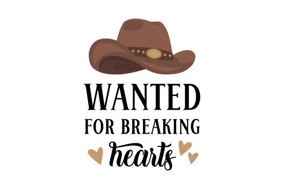 Download Free Wanted For Breaking Hearts Svg Cut File By Creative Fabrica for Cricut Explore, Silhouette and other cutting machines.