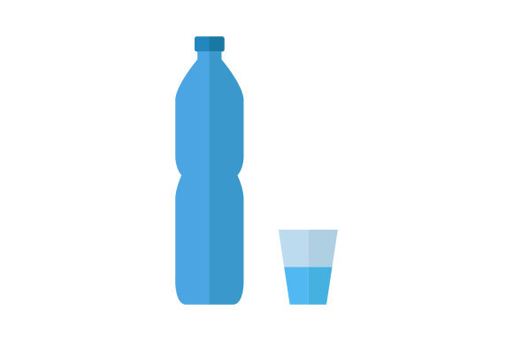 Download Free Water Bottle Icon Graphic By Marco Livolsi2014 Creative Fabrica for Cricut Explore, Silhouette and other cutting machines.