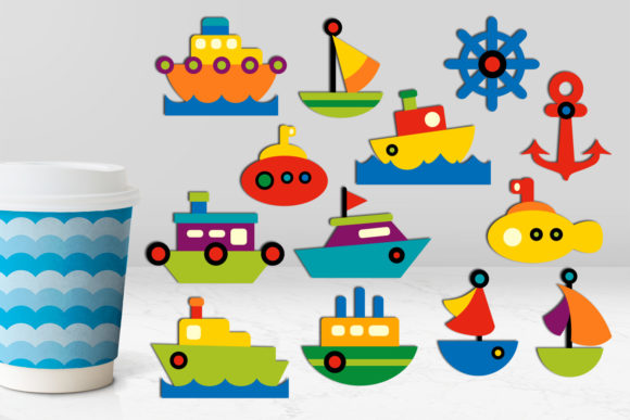 Print on Demand: Water Transportation Graphic Illustrations By Revidevi