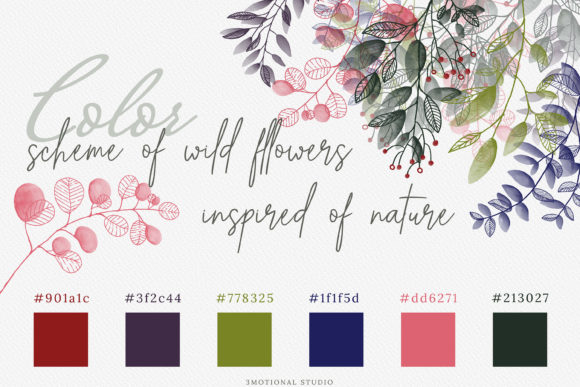 Watercolor Botanical Frames Graphic By 3Motional Image 9