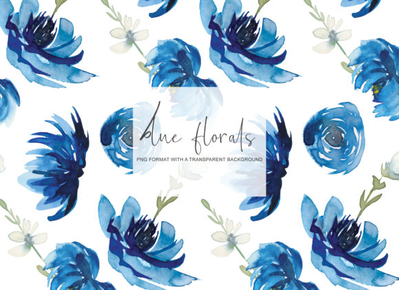 Download Free Watercolor Blue Seamless Pattern Set Graphic By Patishop Art SVG Cut Files