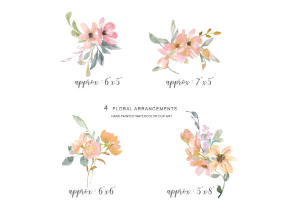 Watercolor Blush Gold Geometric Frames Graphic Illustrations By Patishop Art - Image 5