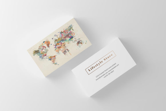 Download Free Watercolor Business Card Template Graphic By Slash Creative Fabrica for Cricut Explore, Silhouette and other cutting machines.