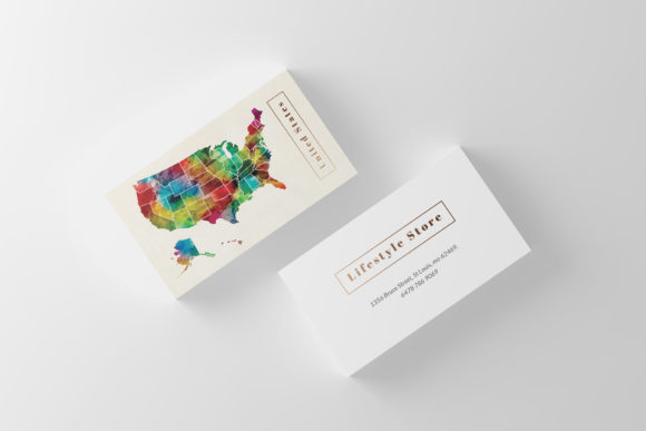 Download Free Watercolor Business Card Graphic By Slash Creative Fabrica for Cricut Explore, Silhouette and other cutting machines.