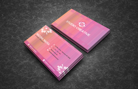 Watercolor Business Cards Graphic By polahdesign