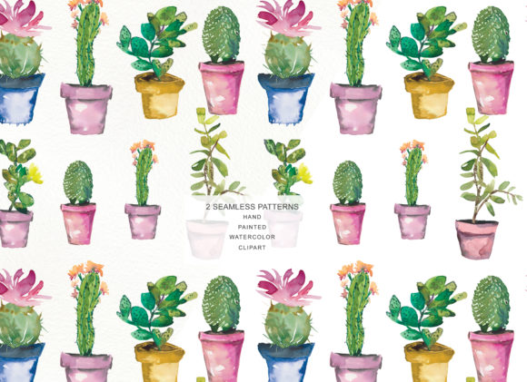 Download Free Watercolor Cactus Clip Art Collection Graphic By Patishop Art for Cricut Explore, Silhouette and other cutting machines.