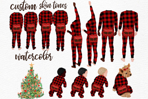 Watercolor Christmas Family Clipart Graphic Illustrations By LeCoqDesign - Image 2