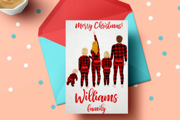 Download Free Watercolor Christmas Family Clipart Graphic By Lecoqdesign for Cricut Explore, Silhouette and other cutting machines.
