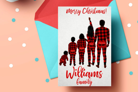 Watercolor Christmas Family Clipart Graphic Illustrations By LeCoqDesign - Image 7