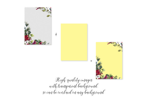 Watercolor Christmas Poinsettia Frames Graphic Backgrounds By Patishop Art - Image 5
