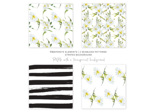 Watercolor Daisy Clip Art - Hand Painted Graphic Illustrations By Patishop Art - Image 7