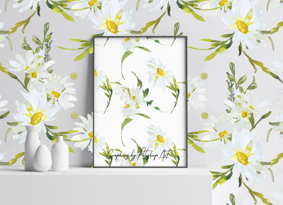 Watercolor Daisy Clip Art - Hand Painted Graphic Illustrations By Patishop Art - Image 9