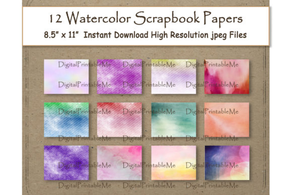 Print on Demand: Watercolor Digital Paper 8.5